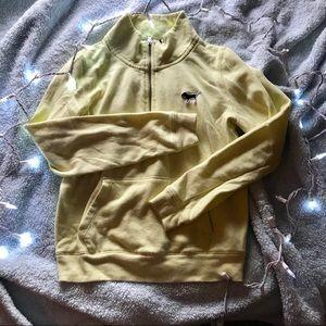 NEON yellow vs pink half zip sweatshirt